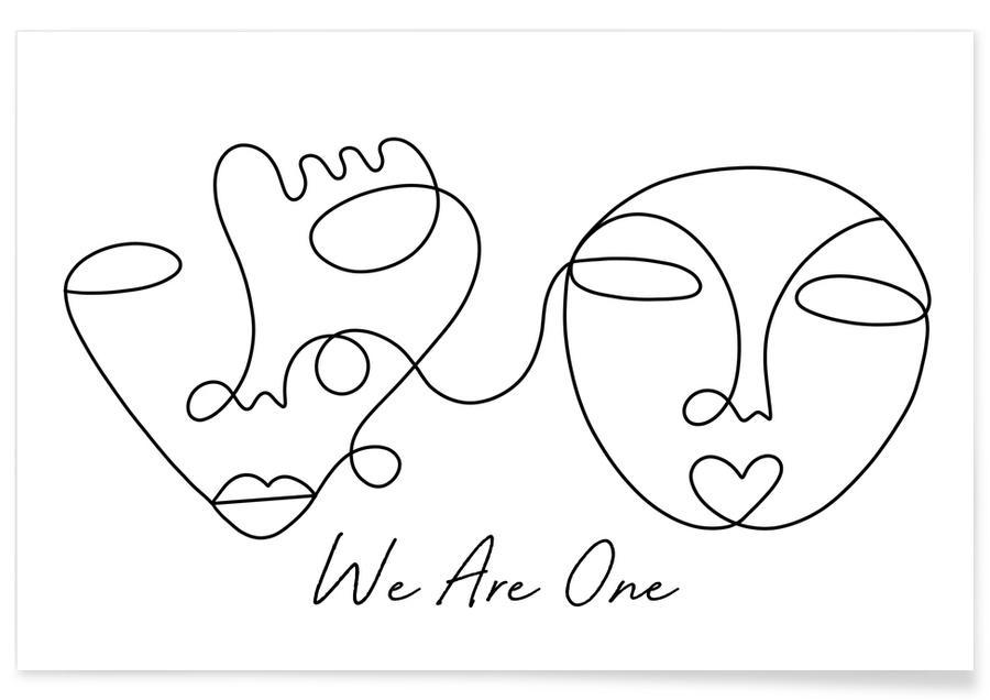 Noir & blanc, Portraits, Rêve, We Are One affiche