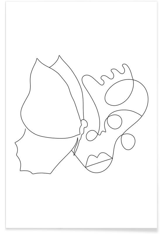 Noir & blanc, Portraits, Rêve, The Butterfly Effect affiche