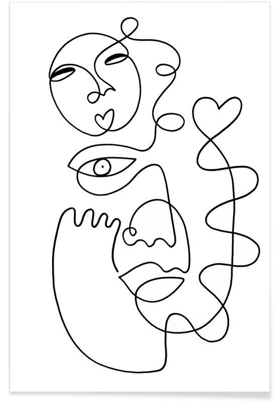Schwarz & Weiß, Porträts, Traumwelt, Love Galore -Poster