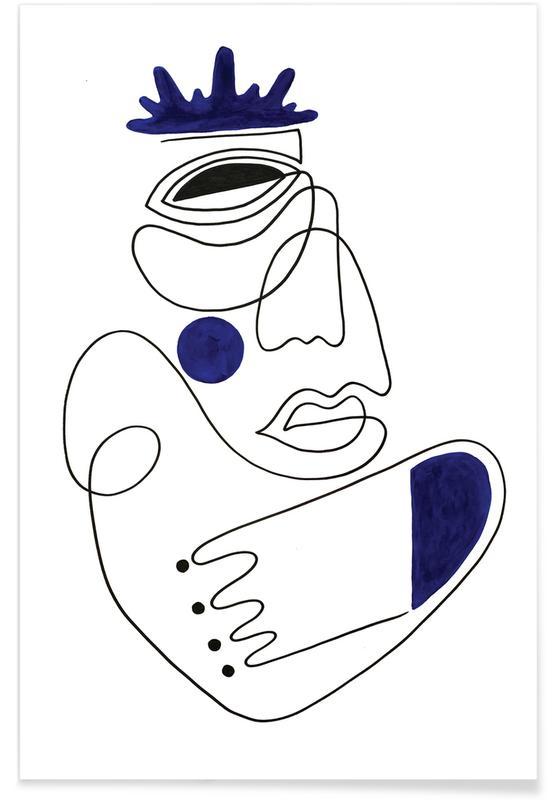 Noir & blanc, Portraits, Rêve, The Guardian affiche