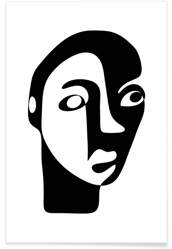 Noir & blanc, Portraits, Rêve, Superstitious affiche