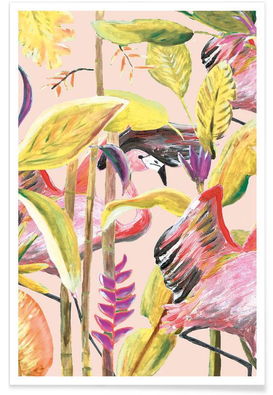 Forêts, Wild Jungle Stories Flamingo affiche