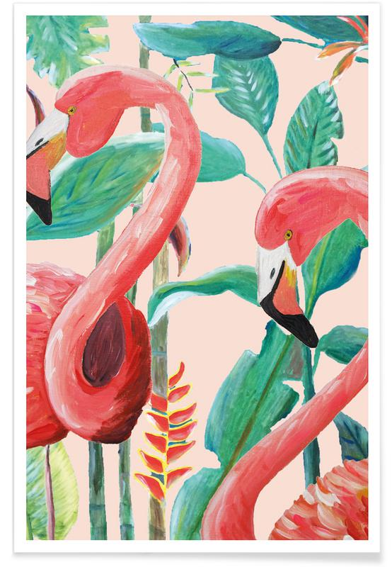 Forêts, Jungle Stories Flamingo Pink affiche