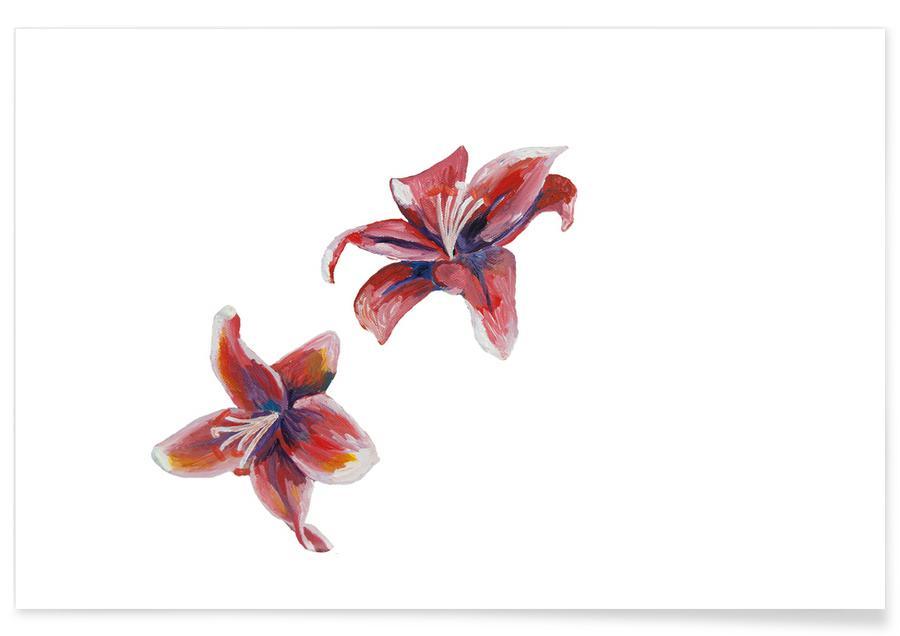 Wälder, Japanisch inspiriert, Flowers Pink -Poster
