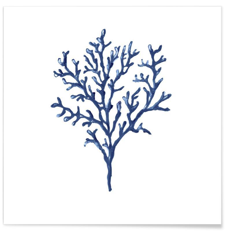 D'inspiration japonaise, Forêts, Coral Blue affiche