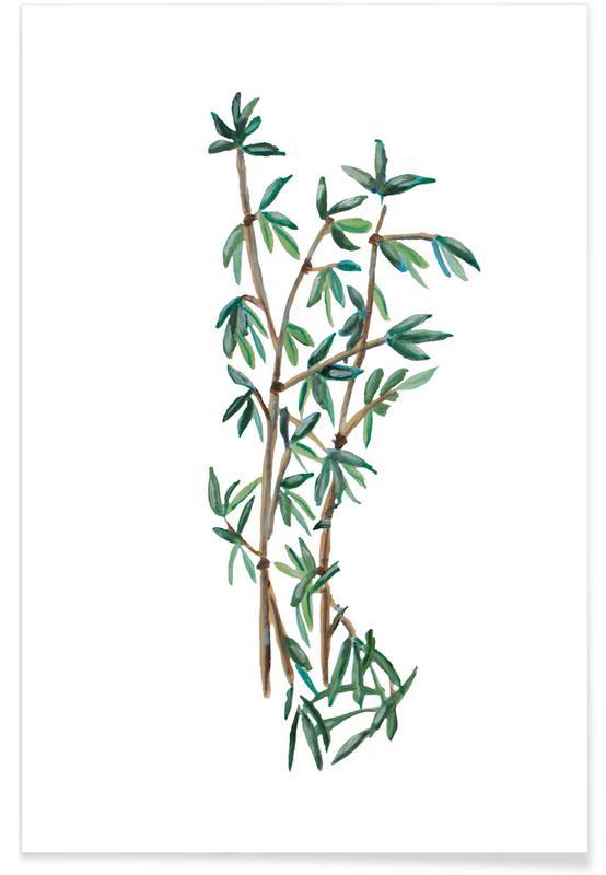 D'inspiration japonaise, Forêts, Bamboo Green affiche