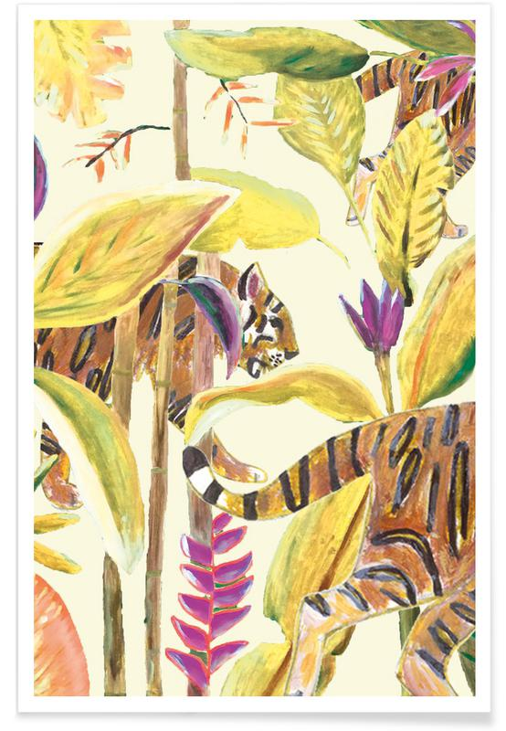 Forêts, Tiger Jungle Yellow affiche