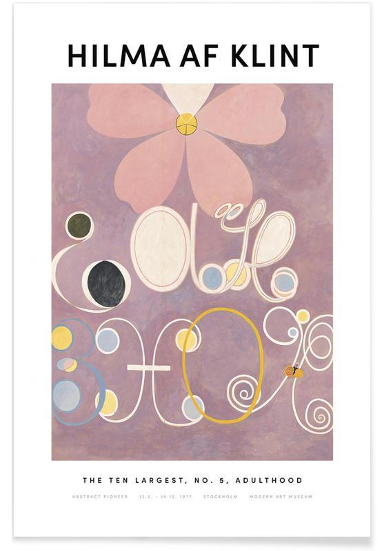 Hilma af Klint, The Ten Largest, No. 5 II affiche