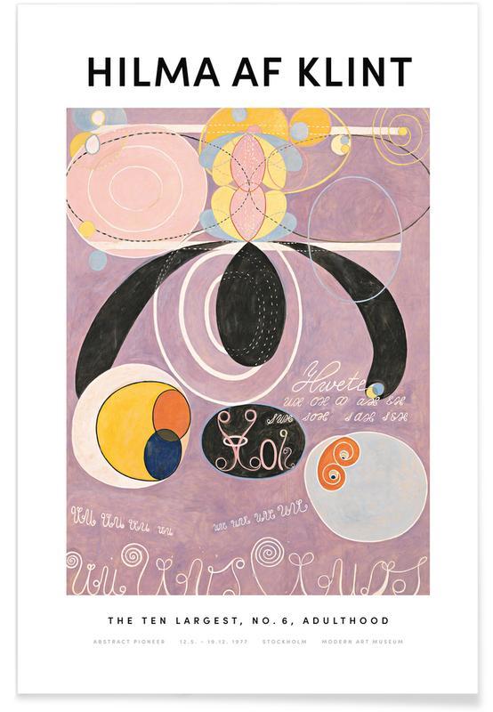 Hilma af Klint, The Ten Largest, No. 6 II -Poster