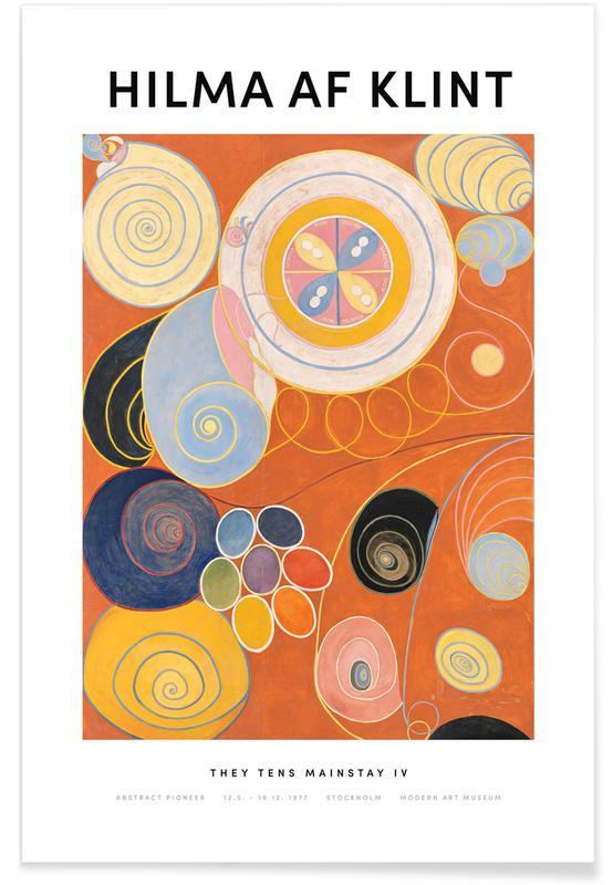 Hilma af Klint, They Tens Mainstay IV II Poster