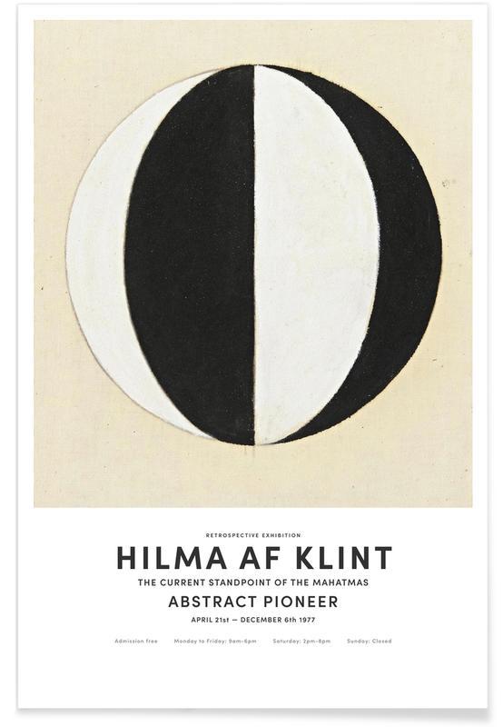 Hilma af Klint, Noir & blanc, The Current Standpoint of the Mahatmas II affiche