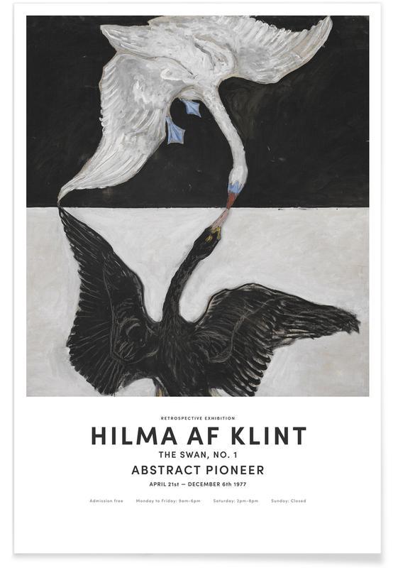 Zwart en wit, Zwanen, Hilma af Klint, Hilma af Klint - The Swan, No. 1 II poster