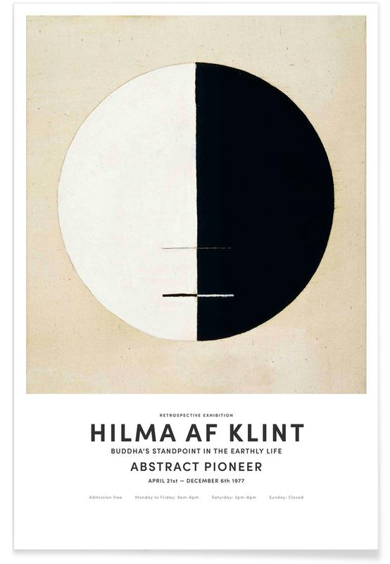 Hilma af Klint, Black & White, Buddha's Standpoint in the Earthly Life II Poster