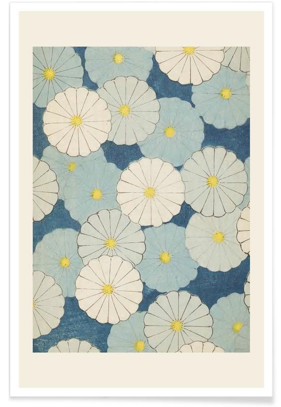 Vintage Travel, Japanese Inspired, Shin-Bijutsukai - Floral Poster