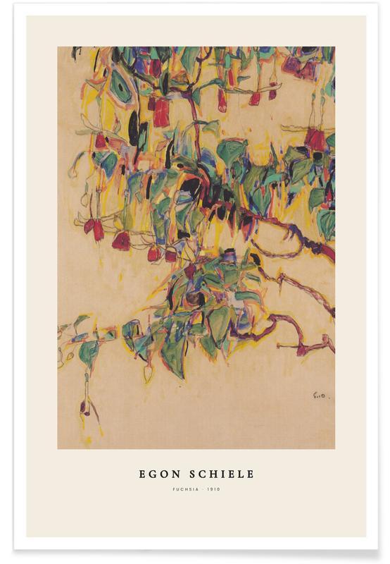 Egon Schiele, Schiele - Fuchsia affiche