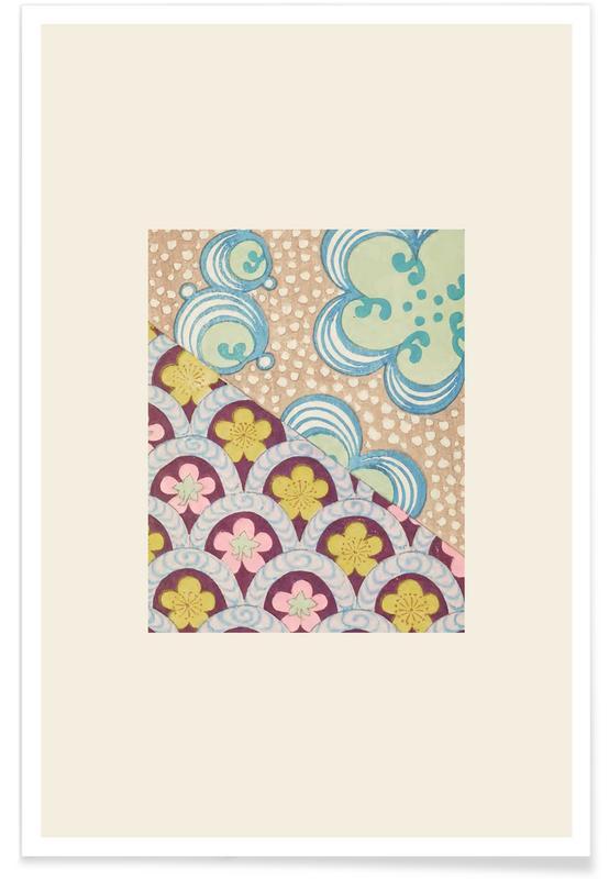 Vintage Reise, Japanisch inspiriert, Shin-Bijutsukai - Floral II -Poster