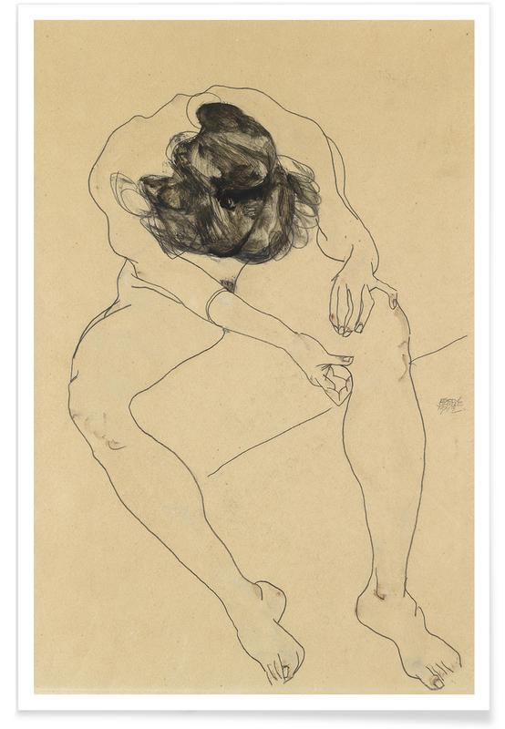 Egon Schiele, Schiele - Seated Female Nude II affiche