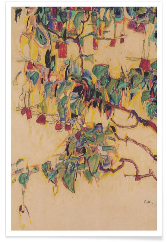 Egon Schiele, Schiele - Fuchsia II affiche