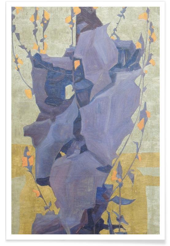 Egon Schiele, Schiele - Stylised Flowers II Poster