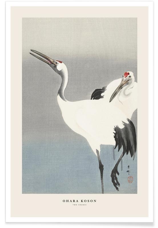 D'inspiration japonaise, Koson - Two Cranes affiche
