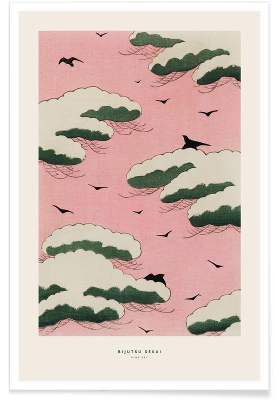 Skies & Clouds, Japanese Inspired, Bijutsu Sekai - Pink Sky Poster