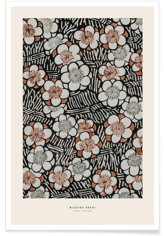 Japans geïnspireerd, Bijutsu Sekai - Floral Pattern poster