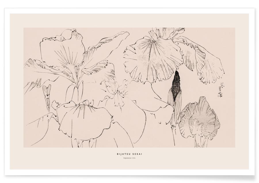 Japanese Inspired, Seitei - Japanese Iris Poster