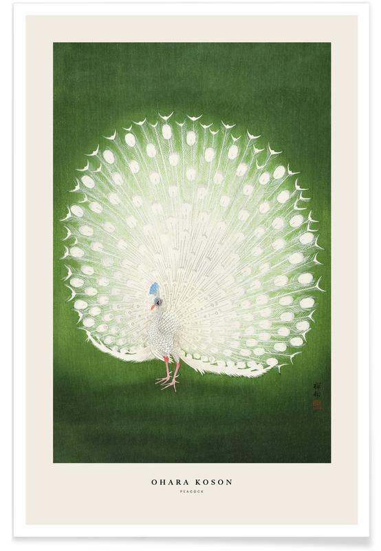 Paons, D'inspiration japonaise, Koson - Peacock affiche