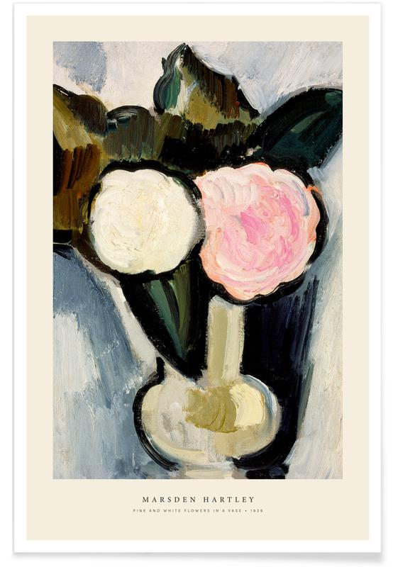 Vintage Travel, Hartley - Pink And White Flowers In A Vase Poster