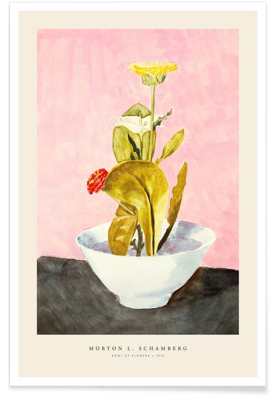 Vintage voyage, Schamberg - Bowl Of Flowers affiche