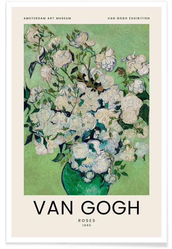 Vincent Van Gogh, Van Gogh - Roses - 1890 Plakat