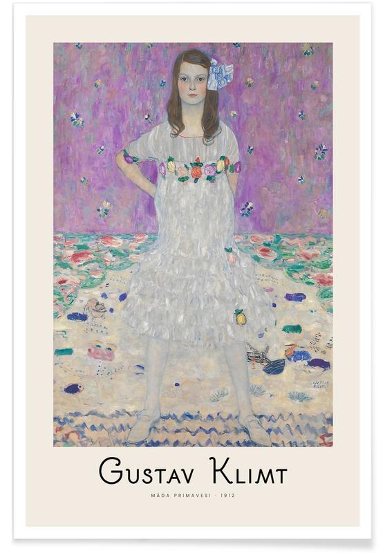 Gustav Klimt, Gustav Klimt - Madam Primavesi - 1912 Poster