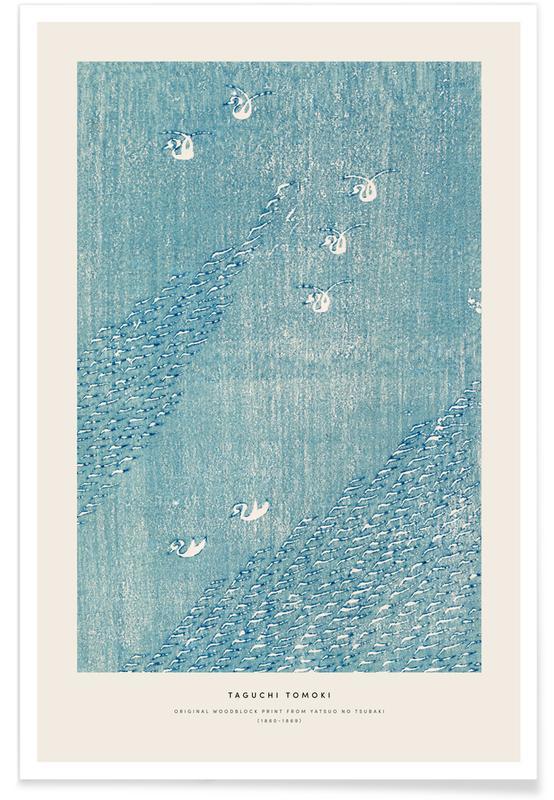 Japanisch inspiriert, Tomoki -  Original Woodblock Print -Poster