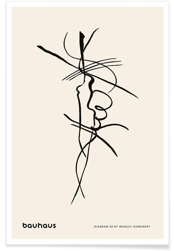 Wassily Kandinsky, Kandinsky - Diagram 20 affiche
