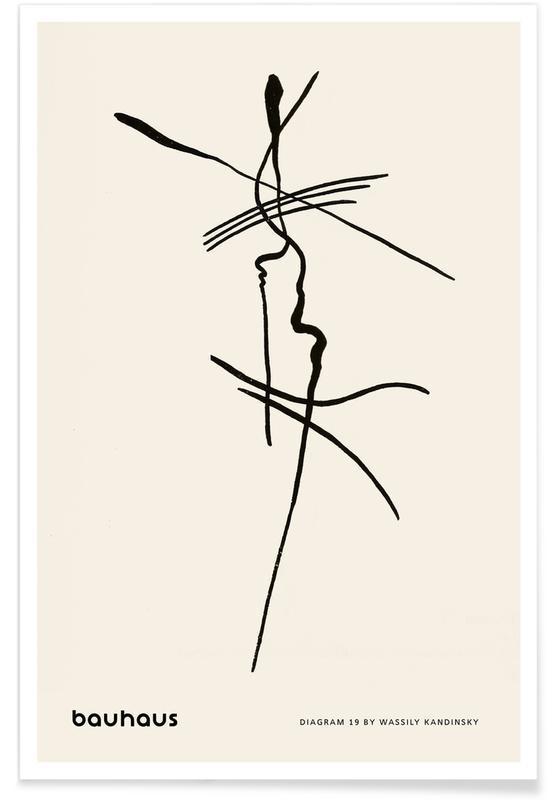 Wassily Kandinsky, Bauhaus, Kandinsky - Diagram 19 -Poster