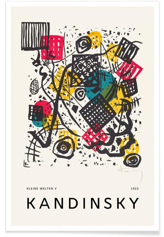 Wassily Kandinsky, Kandinsky - Kleine Welten V affiche