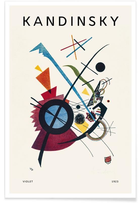 Wassily Kandinsky, Kandinsky - Violet affiche