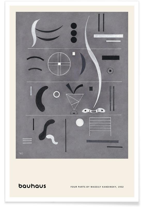 Wassily Kandinsky, Kandinsky - Four Parts -Poster