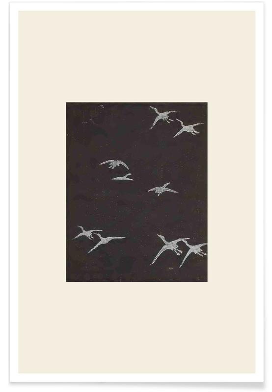 Vintage voyage, D'inspiration japonaise, Shin-Bijutsukai - In Flight affiche