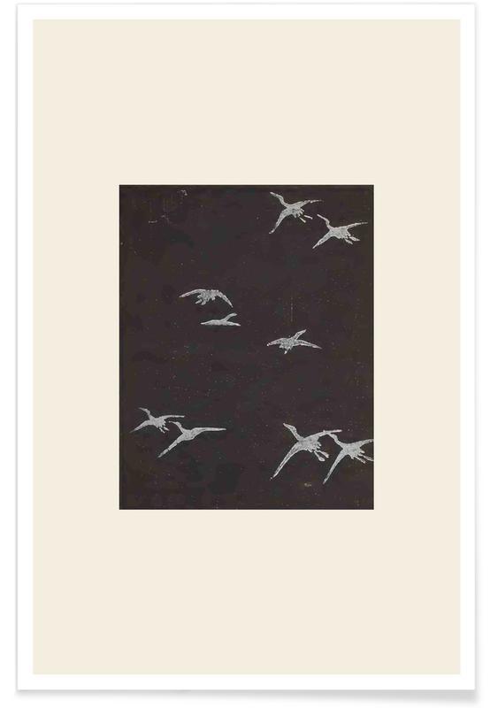 Vintage Reise, Japanisch inspiriert, Shin-Bijutsukai, Shin-Bijutsukai - In Flight -Poster