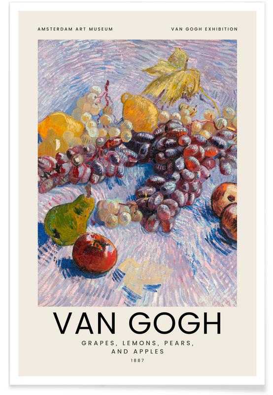 Vincent Van Gogh, van Gogh - Grapes, Lemons, Pears, and Apples -Poster