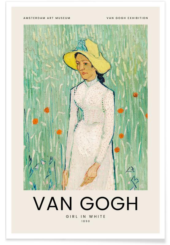 Vincent Van Gogh, van Gogh - Girl in White affiche