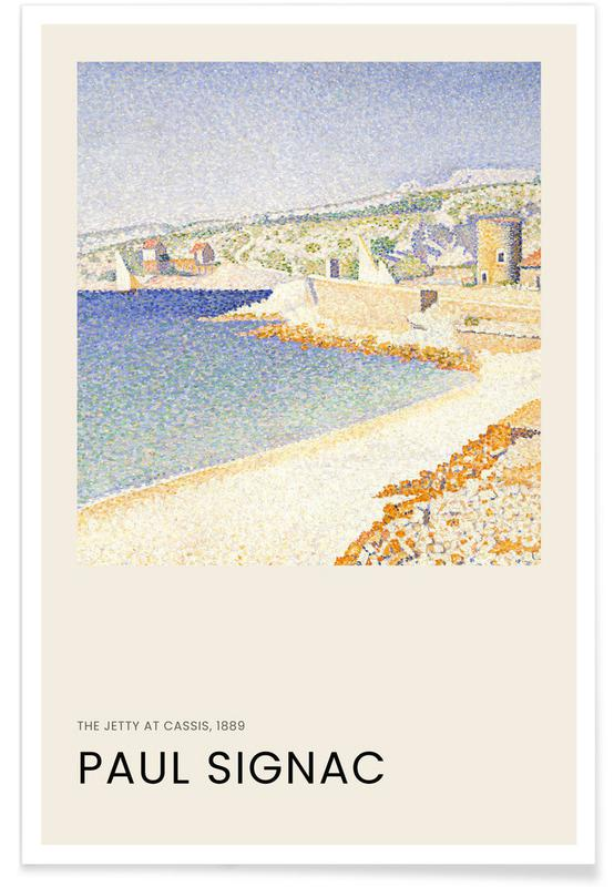 , Signac - The Jetty at Cassis affiche