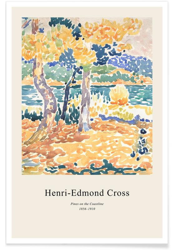 , Henri-Edmond Cross - Pines on the Coastline affiche
