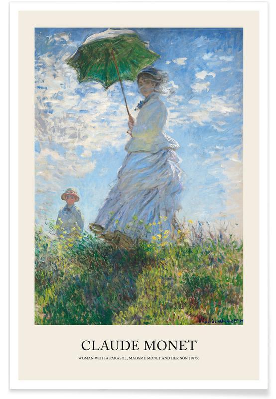 , Monet - Woman with a Parasol affiche