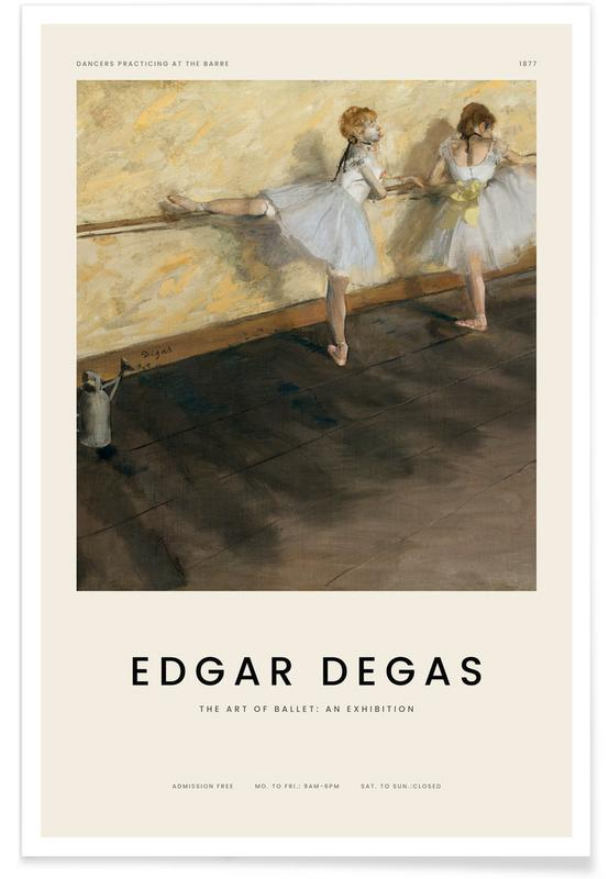 , Degas - Dancers Practicing at the Barre poster