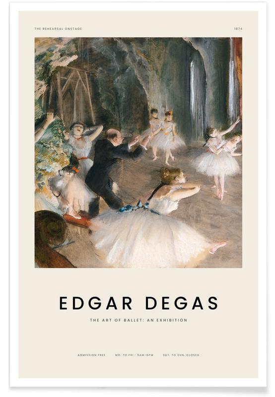 , Degas - The Rehearsal Onstage affiche