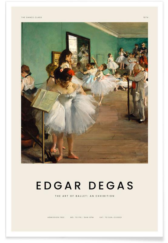 , Degas - The Dance Class affiche