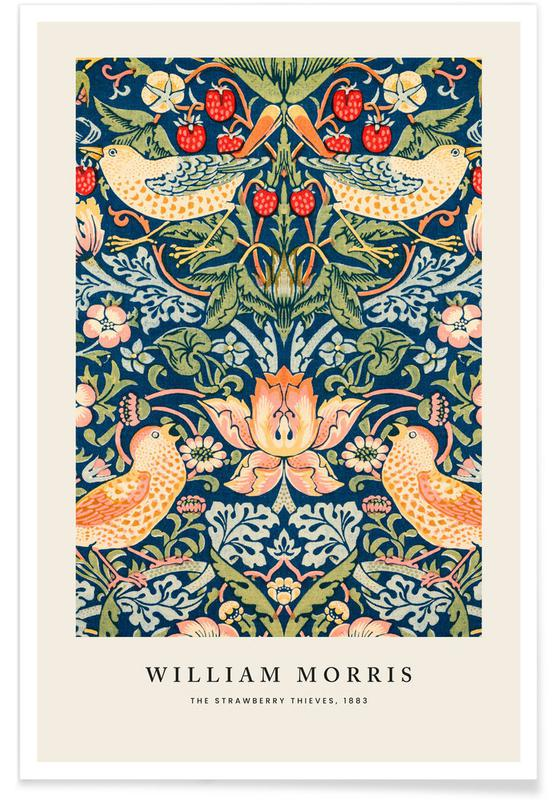 , William Morris - The Strawberry Thieves affiche