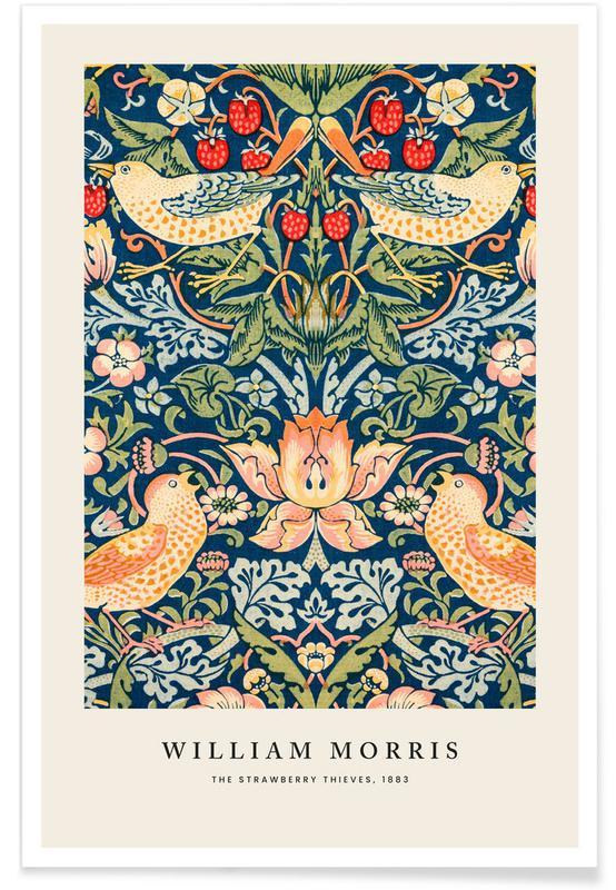 Jordgubbar, William Morris, William Morris - The Strawberry Thieves Poster